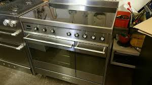 Smeg 110 Gloss Black Induction 90cm Smeg Range Cooker All Electric Induction In Weston Mare