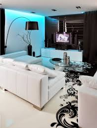 modern apartment design in white and black color modern decor
