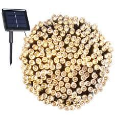 Solar Sign Lights Outdoor by Amazon Com Rockbirds Sl200 W 200 Led Outdoor String Light Solar