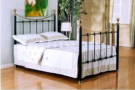 Brass Double Bed Frame Black And Brass Oxford Metal Bed Frame 4ft Small Double