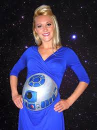Star Wars Baby Halloween Costumes R2d2 Belly Paint Cosplay Pregnant Cosplay