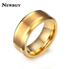aliexpress buy 2017 new arrival mens ring fashion newbuy 2017 new fashion men wedding band ring gold color tungsten