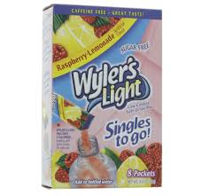wyler s light singles to go nutritional information wyler s light singles to go raspberry lemonade drink mix shop