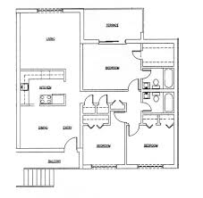 apartments 3 bed 2 bath house plans bedroom house plan modern
