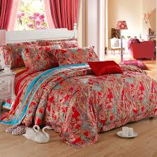Tribal Print Bedding Red Paisley Party Bohemian Style Fashion And Luxury Exotic Tribal