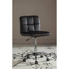 brown leather armless desk chair modway ripple armless mid back office chair in brown eei 1532 brn