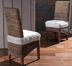 chaise tress e chaise feuille de bananier tressé style ethnique zeli