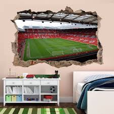 football wall mural ebay manchester old trafford football stadium wall stickers mural home room decor aj3
