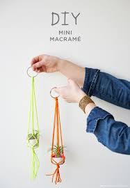 how to diy mini macramé plant hangers crayola air dry clay