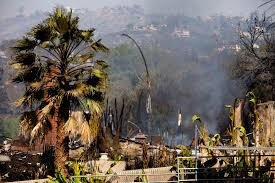 California Wildfires San Diego california fires 10 large scale blazes rage winds may decrease today