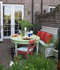 Download Ideas For Small Balcony by Comfy Small Herb Garden Balcony With Wooden Patio Folding Chairs