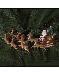Lighted Santa Sleigh Reindeer Set by Santa U0027s Sleigh Ride 8 Reindeers Pulling Santa In Sleigh Light Set