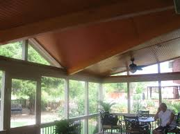 screen porch roof covered deck archadeck of charlotte