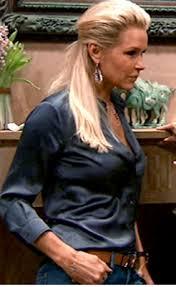 yolanda foster hair style yolanda foster s dinner party earrings big blonde hair