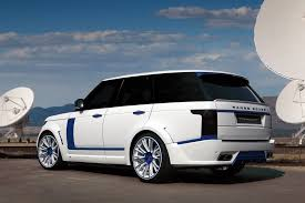 modified range rover range rover lumma clr r white and blue topcar