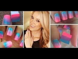how to one step ombre nails youtube