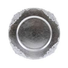 silver vintage charger plates 4 pack 424659 wholesale wedding