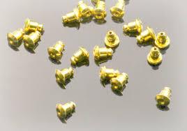 gold earring backs gold earring backs 6mm barrel stoppers 30pcs