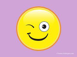 winking smiley on hearts desktop wallpaper