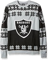 raiders christmas sweater with lights 13 nfl ugly christmas sweaters for a warmer winter sportige
