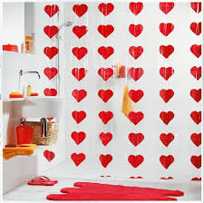 Transparent Shower Curtain Red Heat Shower Curtains Transparent Shower Curtain Extra Long