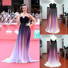 80s prom dress ideas 2015 elie saab gradient color chiffon evening dresses backless