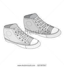 vector sketch skaters shoes stock vector 229073176 shutterstock
