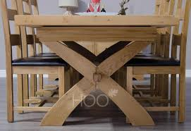 oak dining room sets chatsworth oak x leg extending dining table oak furniture by