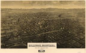 Billings Montana Map by Birdseye Map Of Billings Montana 1904