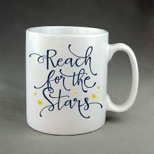 reach for the stars decorated coffee mugs custom coffee cups
