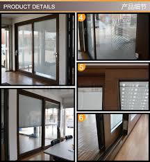 Patio Door Venetian Blinds Aluminum Profile Sliding Door With Venetian Blind Sound Proof