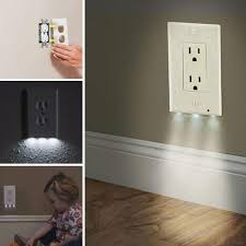 receptacle cover night light new white socket night light wall outlet cover plate 220v plug cover