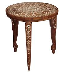 wholesale 14 u201d handmade wooden side table with a round top