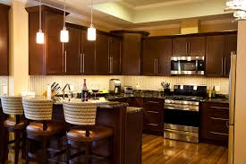 Long Kitchen Cabinet Handles Cool Orange Color Mahogany Wood Kitchen Cabinets With Double Door