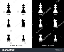 set vector chess pieces icons flat stock vector 591502775