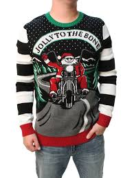 mens light up ugly christmas sweater ugly christmas sweater men s jolly to the bone led light up