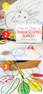 how to draw paint a turkey teaching boys thanksgiving and