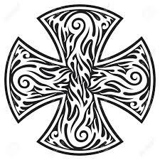 tattoo cross tribal design cross cross tribal tattoo royalty free cliparts vectors and stock