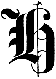 h old english title text clipart etc