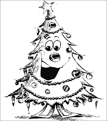 blank christmas tree coloring pages download free printable