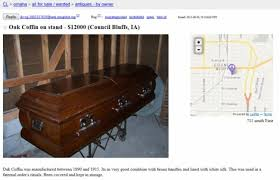 coffin for sale tries to sell antique coffin on craigslist with a skeleton