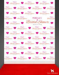 custom backdrops custom wedding bridal shower step and repeat backdrop for