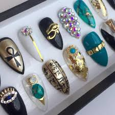 nail supply charm decors unique eye of horus gold daily charme