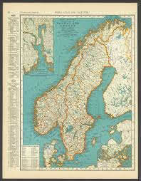 Vintage Maps Vintage Map Norway Sweden Scandinavia From 1937 Original