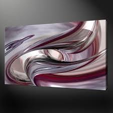 abstract silver purple wave modern design box canvas print 20