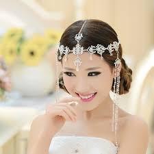 hair accessories india bridal wedding rhinestone tiara fringed india style hairbands