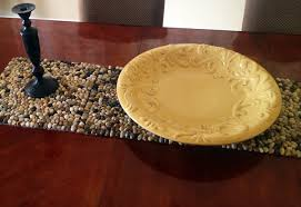 make your own table runner stone table runner placemats diy