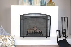 erin arched fireplace screen