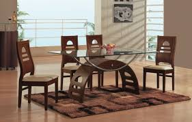 Modern Glass Kitchen Tables by Glass Top Kitchen Table Set Mada Privat