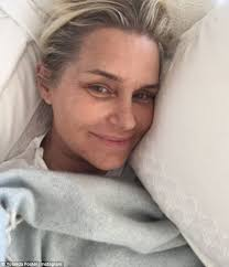 yolanda foster hair how to cut and style yolanda foster shares photo of herself with iv in lyme disease